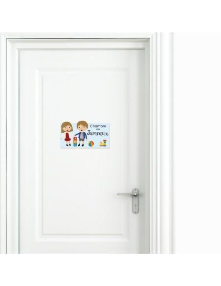 Plaques de porte,Plaque de porte: Jumeaux fille-garçon