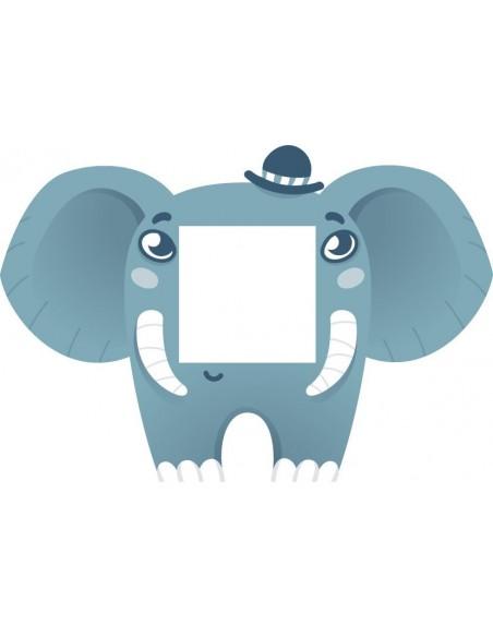 Stickers Prise,Sticker prise ou interrupteur: Éléphant bleu