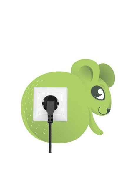 Stickers Prise,Sticker prise ou interrupteur: Souris verte