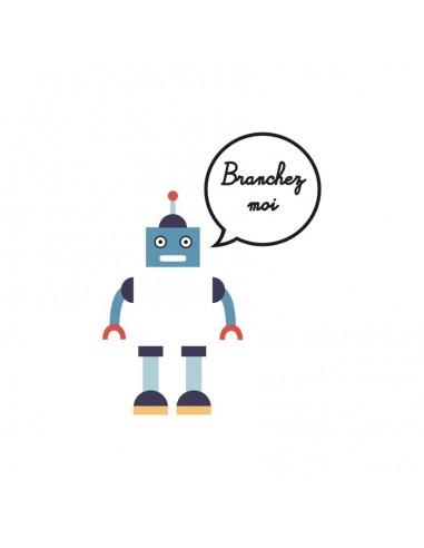 Stickers Prise,Sticker prise ou interrupteur: Robot