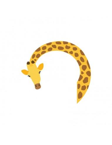 Stickers Prise,Sticker prise ou interrupteur: Girafe