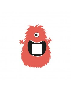 Stickers Prise,Sticker prise ou interrupteur: Monstre rouge