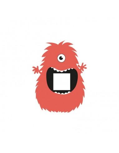 Stickers Prise,Sticker prise ou interrupteur: Monstre rouge