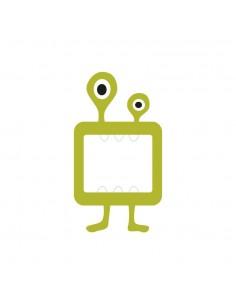 Stickers Prise,Sticker prise ou interrupteur: Monstre vert