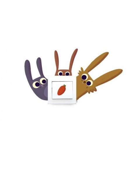 Stickers Prise,Sticker Prise ou Interrupteur: Lapins