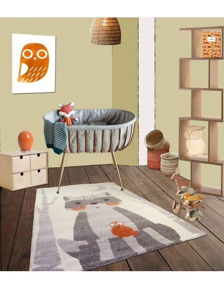 Tapis animaux,Tapis Enfant: Raton Laveur Harry