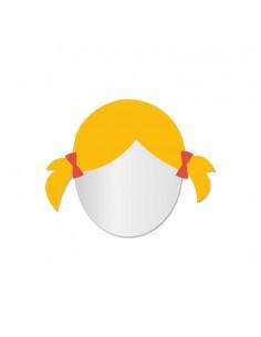 Miroir enfant,Miroir enfant: Fille blonde