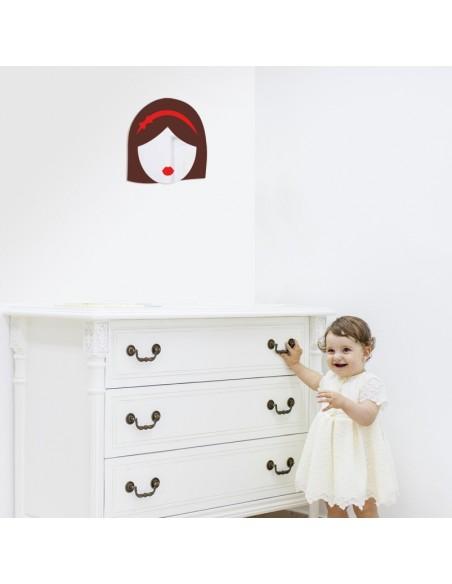 Miroir enfant,Miroir enfant: Fille brune