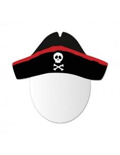 Miroir enfant,Miroir enfant: Tête Capitaine Pirate