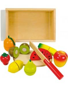 Cuisine & Dînette,Fruits à découper en bois