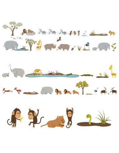 Kit Deco Promo,Kit de 53 Stickers: Grande Savane