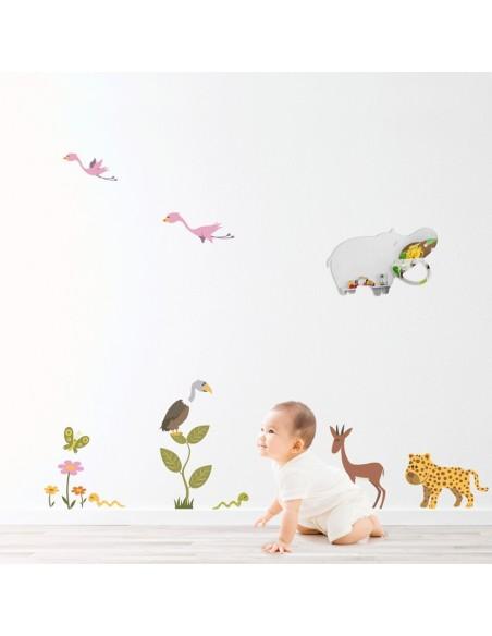 Miroir enfant,Miroir bébé: Hippo de la Savane