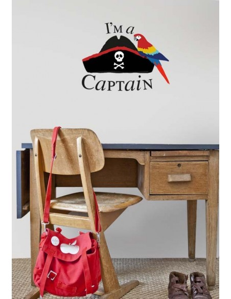 Stickers Pirates,Sticker chapeau: I'm a Captain