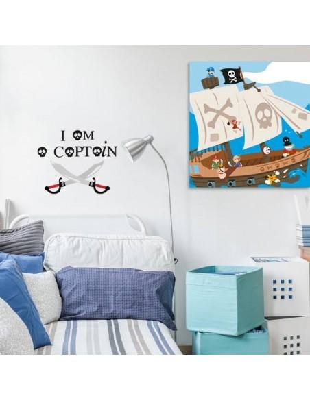 Stickers Pirates,Sticker Sabres: I am a captain