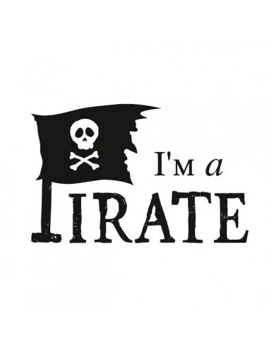 Stickers Pirates,Sticker drapeau: I'm a Pirate