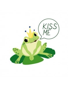Stickers Fée & Princesse,Sticker Enfant: Grenouille Kiss Me