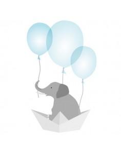Stickers Bébé,Sticker Bébé: Éléphant Ballons