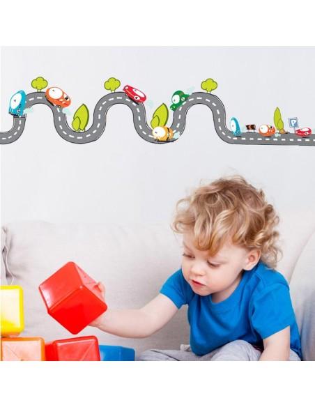 Stickers Frise,Sticker garçon: frise circuit droit