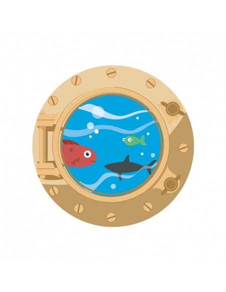 Stickers Pirates,Stickers Pirate Hublot Poissons Doré