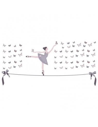 """Stickers Danseuse,Sticker: Danseuse sur Fil """"Couleurs"""""""
