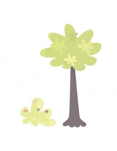 Stickers Fée & Princesse,Stickers Fille: Arbre et buisson