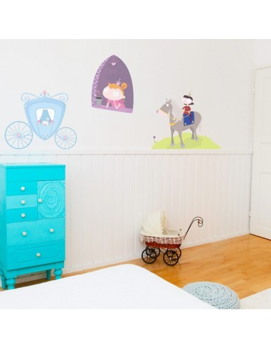 Sticker Chambre Fille : Carrosse bleu