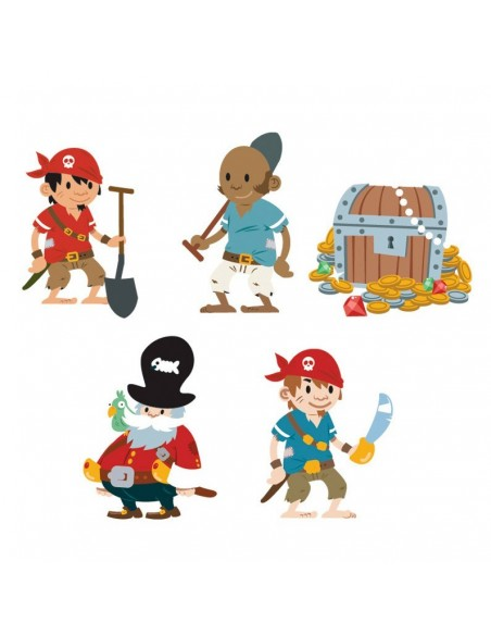 Stickers Pirates,Stickers enfants: Personnages Pirates