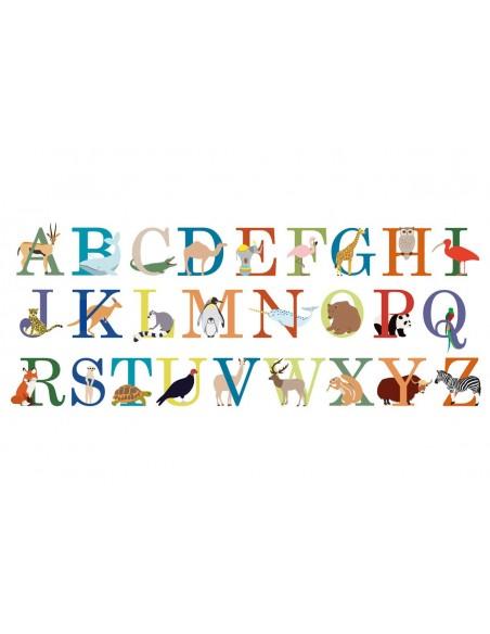 Stickers Prénom,Sticker Prénom : ABCdaire Animaux