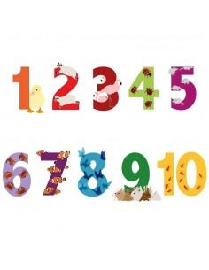 Stickers Lettre et Chiffres,Stickers enfant: Chiffres Animaux