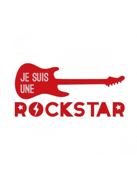 Stickers Graphiques,Sticker enfant: Je suis une rockstar