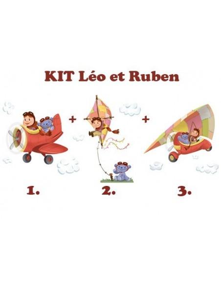 Kit Deco Promo,Kit Stickers: Léo et Ruben