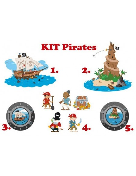 Stickers Pirates,Kit Stickers: Pirates