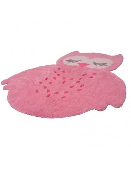 Tapis animaux,Tapis Enfant: Hibou sweet Pepa rose