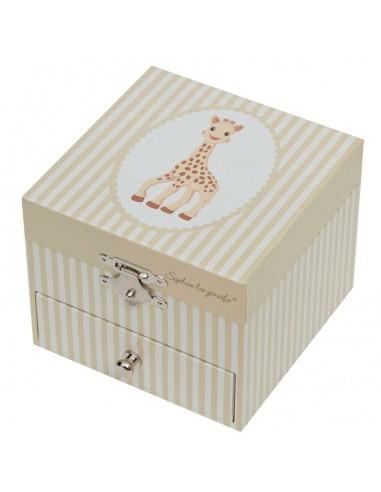 Boîte à Musique & Bijoux,Coffret musical cube: Sophie la Girafe