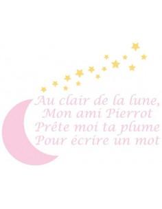 Stickers Bébé,Sticker enfant: Pierrot rose