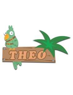 Sticker prénom : perroquet...