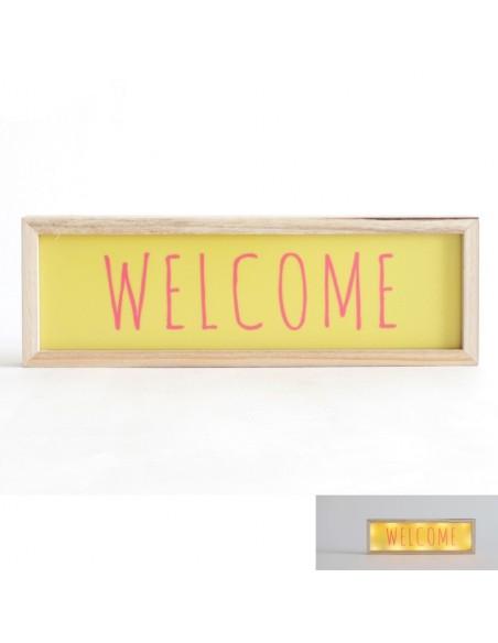 Tableaux lumineux,Cadre déco lumineux: Welcome