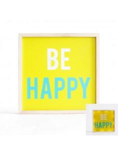 Tableaux lumineux,Cadre déco lumineux: Be Happy