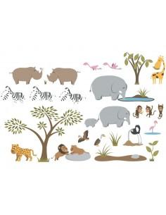 Stickers enfants : Frise Rhino