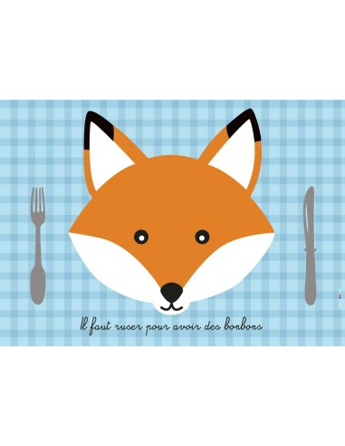 Set de table,Set De Table Enfant: Renard