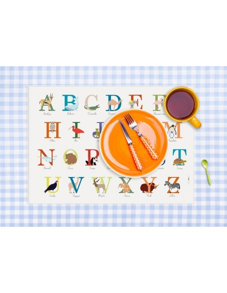 Set de table,Set De Table Enfant: ABC Animaux