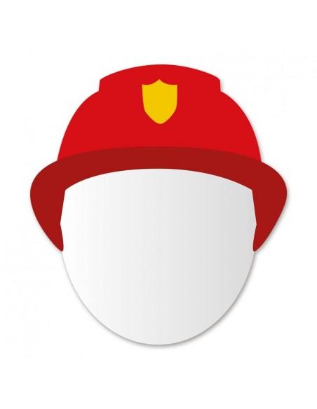 Miroir enfant,Miroir enfant: Tête sapeur Pompier