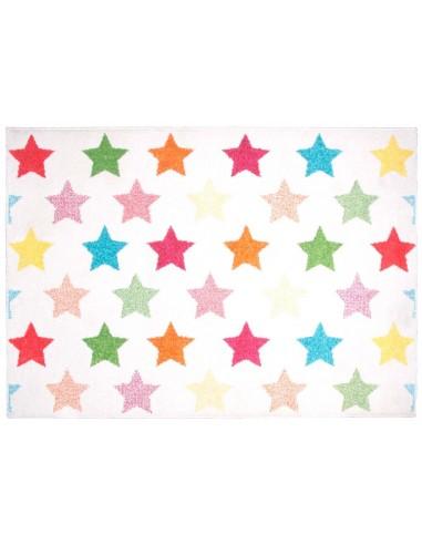 Tapis étoile,Tapis Enfant: Etoiles colorées Holly