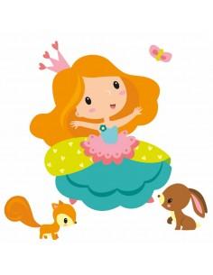 Stickers Fée & Princesse,Sticker Enfant: Princesse Emma