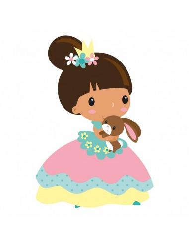 Stickers Fée & Princesse,Sticker Enfant: Princesse Eva
