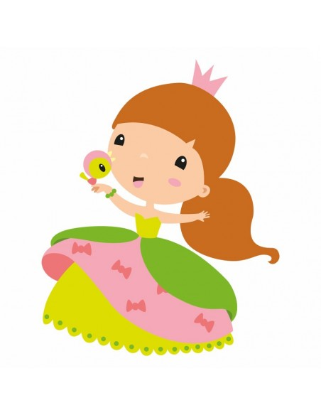 Stickers Fée & Princesse,Sticker Enfant: Princesse Aline