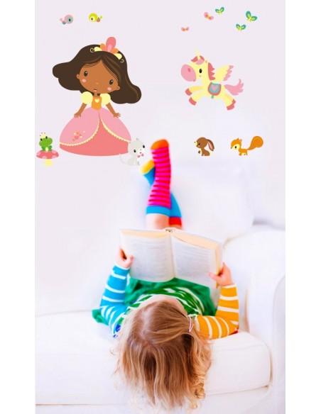 Stickers Fée & Princesse,Sticker Enfant: Princesse Clara