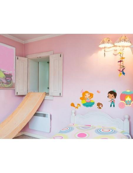 Stickers Fée & Princesse,Sticker Enfant: Carrosse rose