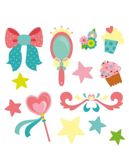 Stickers Fée & Princesse,Stickers Frise: accessoires de