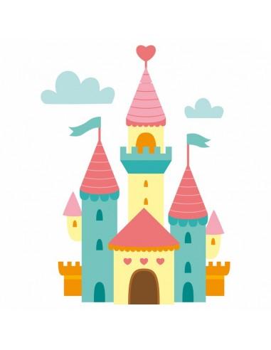 Stickers Fée & Princesse,Sticker Enfant: Château de princesse